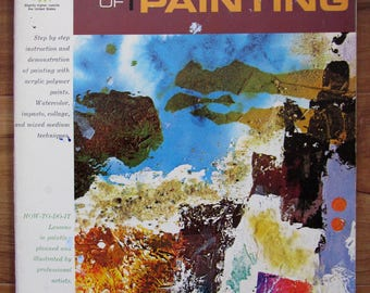 Vintage Art Book The Art of Acrylic Painting