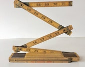 Vintage Lufkin Folding Ruler Carpenters Rule Extension Rule 6 Foot