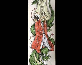 St.Margaret and the Dragon Skateboard Deck Art