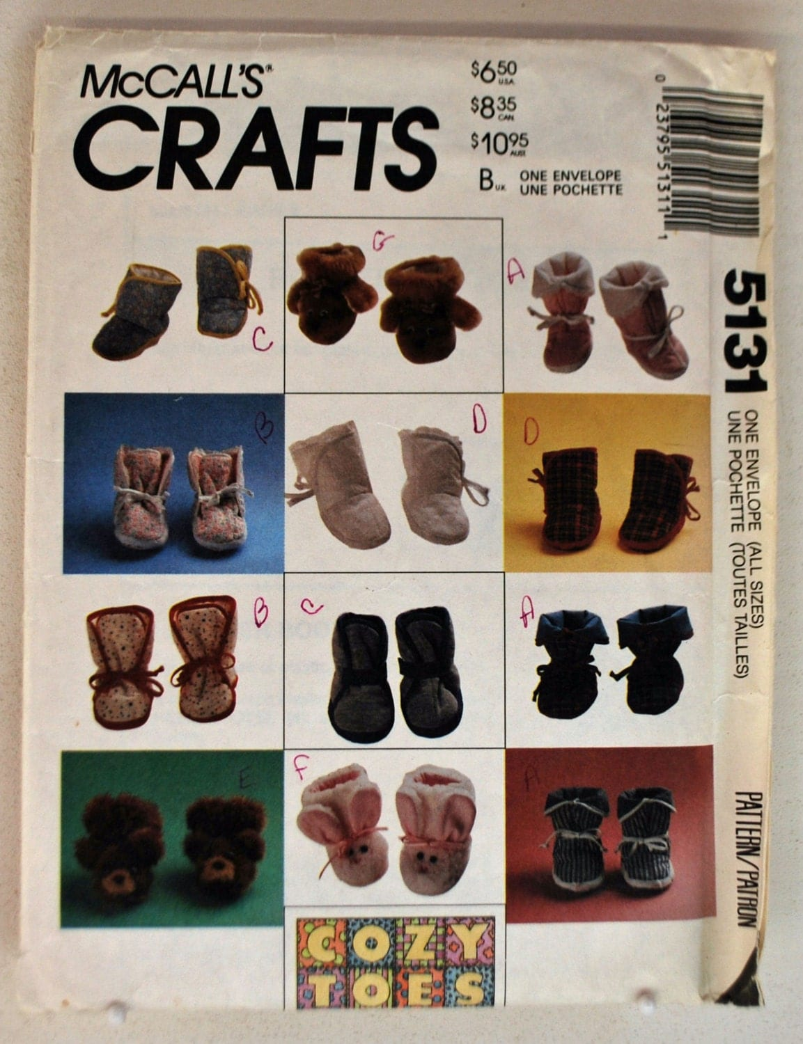 greece hair styles mccall s craft pattern 5131 baby booties eight styles 5131