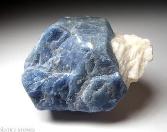 Big Blue Apatite Crystal Section, Raw Natural Piece // Throat Chakra // Crystal Healing // Mineral Specimen