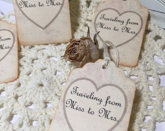 Travel Themed Favor Tags...Travel....Bride to Be....Bridal Shower...Favor Tags... Set of 12