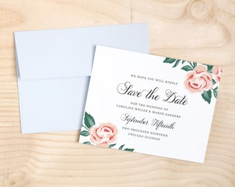 Printable Save the Date Template | INSTANT DOWNLOAD | Colorful Floral | Word or Pages Mac & PC | 4.25x5.5 | Any Colors