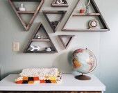 Set of 6 Barnwood Shelves / barnwood decor, barn wood shelf, triangle shelves, pallet wood art, rustic home decor, rustic wall decor