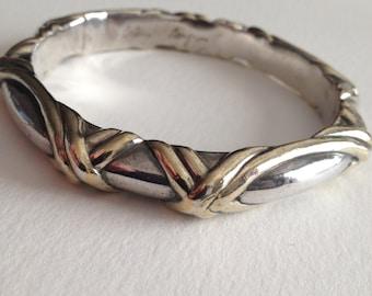 BRIAN BERGNER Sterling Bangle Bracelet