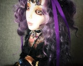 RESERVED FOR Genevieve Remaining Balance Artdoll art doll OOAK Gypsy Bird Fortunate Teller magic sparkle bling