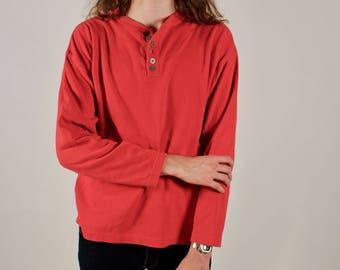 Vintage Marlboro Red Thermal Mens Long Sleeve Top