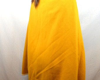 Lovely Vintage Mustard Yellow Wool Cape Coat Poncho