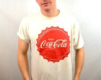 Vintage 80s Coca Cola Coke Tshirt Tee Shirt