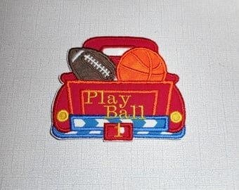 Free Shipping Ready to Ship Sport Truck Machine Embroidery iron on applique