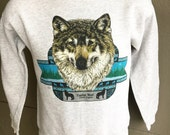 Timber Wolf 1980s vintage sweatshirt - grey size small