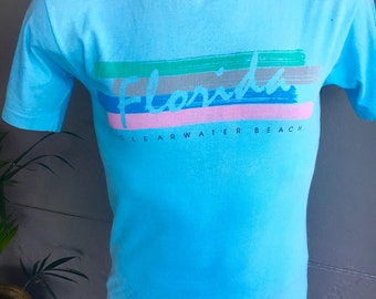 Clearwater Florida genuine vintage 1980s tee shirt - size medium