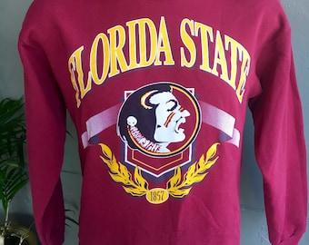 Florida State Seminoles early 1990s vintage garnet and gold sweatshirt size medium/large