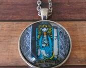 Tarot Card Necklace -- High Priestess