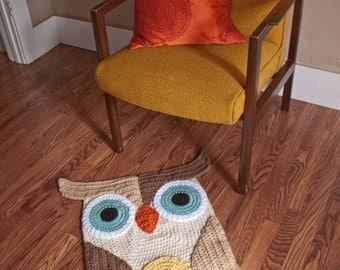 Pattern for crochet owl rug
