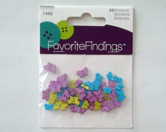 Teeny Weeny Butterflies (buttons) by Favorite Findings in Sets of 49
