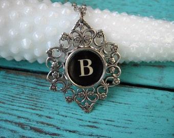 Typewriter Key Jewelry Letter B