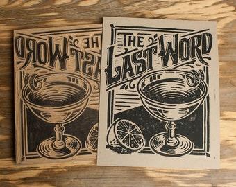 The Last Word -  Block Print