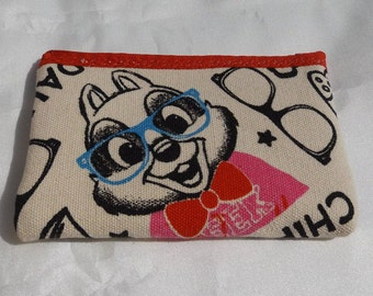 Chip and Dale Geeky Fabric  Coin Purse