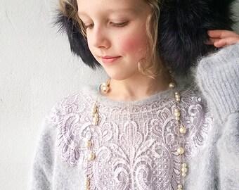 Purple earmuffs, faux fur ear warmers, Christmas gift, cute earmuffs, ear muffs, winter hat, girl winter accessory.