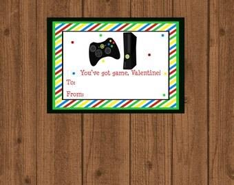 You've Got Game Valentine Card, Video Game Valentine Card, Instant Download