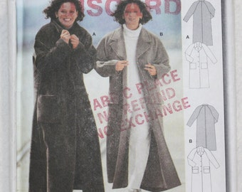 Size 20 22 24 26 28 30 Burda  Sewing Pattern 2607 Coat with Raglan Sleeves and Patch Pockets for Wool or Faux Fur