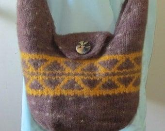 Cowichan Style Hobo Bag