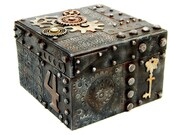 Steampunk Style Treasure Box Medium Jewelry Assemblage