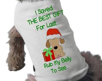 I'm Going To Be A Big Sister Dog Shirt - Dog T-Shirt - Christmas Pregnancy Announcement Dog Shirt - Holiday Dog TShirt - Pet Graphic Tee