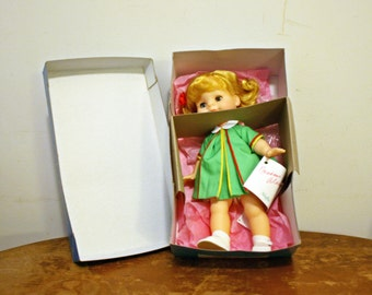 Vintage Madame Alexander Muffin Playtime Vinyl Baby Doll in Original Outfit and Box