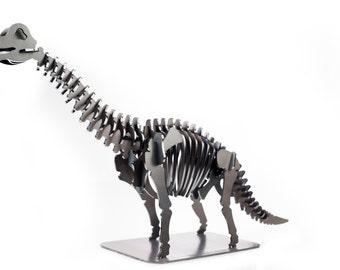 "25"" Brachiosaurus Metal Dinosaur 3D Puzzle"