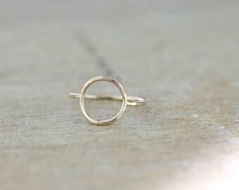 Gold Karma Circle Ring | Rose Gold Minimalist Circle Ring