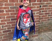 Made to order Personilized Superhero Cape kid +Adult sz for bday Father's Day Mothers Day Easter Office gift Logo Build your own Superhero