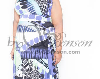 Plus Size Maxi Dress 2 piece