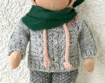 Waldorf doll (11 inches).