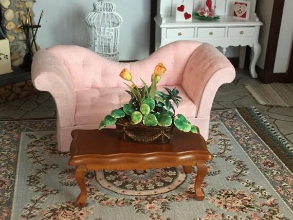 Miniature Victorian Style Coffee Table, Walnut Coffee Table, Style 6840, Dollhouse Miniature, 1:12 Scale, Dollhouse Furniture