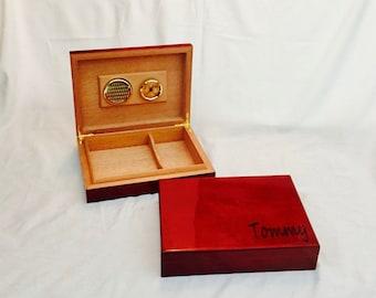 Personalized Cedar Humidor, Cigar Case, Personalized Humidor, Custom Humidor, Personalized Cigar Case, Custom Cigar Case, Fathers Day Gift