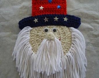Patriotic Day Crochet Potholder Wall Decor