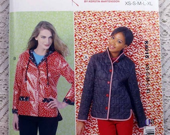 Kwik Sew 4015, Misses' Jackets Sewing Pattern, Lined Jackets Pattern, Misses' Pattern, Rain Jacket Pattern, Misses' Size XS to XL, Uncut