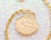 Mermaid Necklace, gifts for her, mermaid necklace, Mermaid Jewelry, gifts for mermaids, beach jewelry, mermaid, wife gift