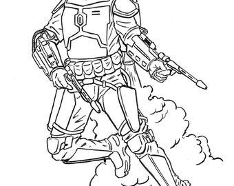 Jango Fett Ink Illustration