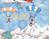 Skydiver Birthday Card