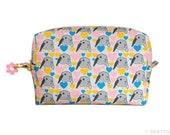 Orange Apollo's Box / Square Zipper Pouch for Bunny Lovers (Bunny Love)