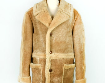 Suede and Shearling Jacket || Heavy Duty Warmth || Rugged Marlboro Man || Men's Size 40
