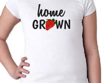 Home Grown Girls Tee with Optional Personalization on Back
