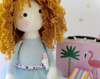PDF Pattern for Curly Girls Doll - Crochet Amigurumi Doll Pattern