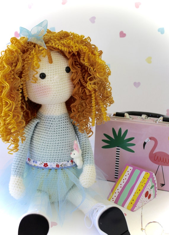Amigurumi Curly Doll : Pdf pattern for curly girls doll crochet amigurumi