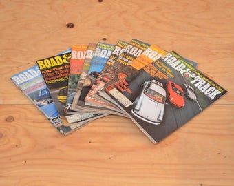 Vintage Set Of Nine 1976 Road & Track, Classic Collector Car Magazines