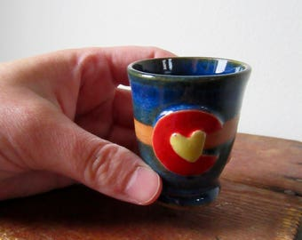 Rustic Colorado in my Heart Shot Glass No. 2 - Ready to ship