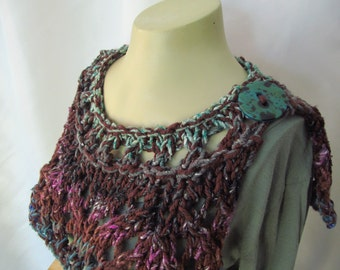 Hand Knitted Collar or Capelet